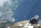 View of the valley from Mantova hut of Vioz